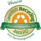 Vinnare av Swedish Recycling Award